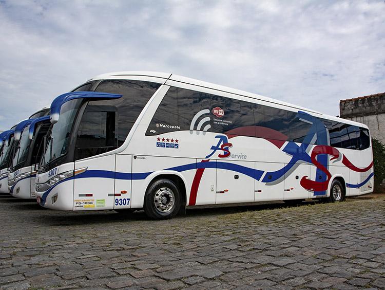 fretamento contínuo de ônibus, micro ônibus e vans